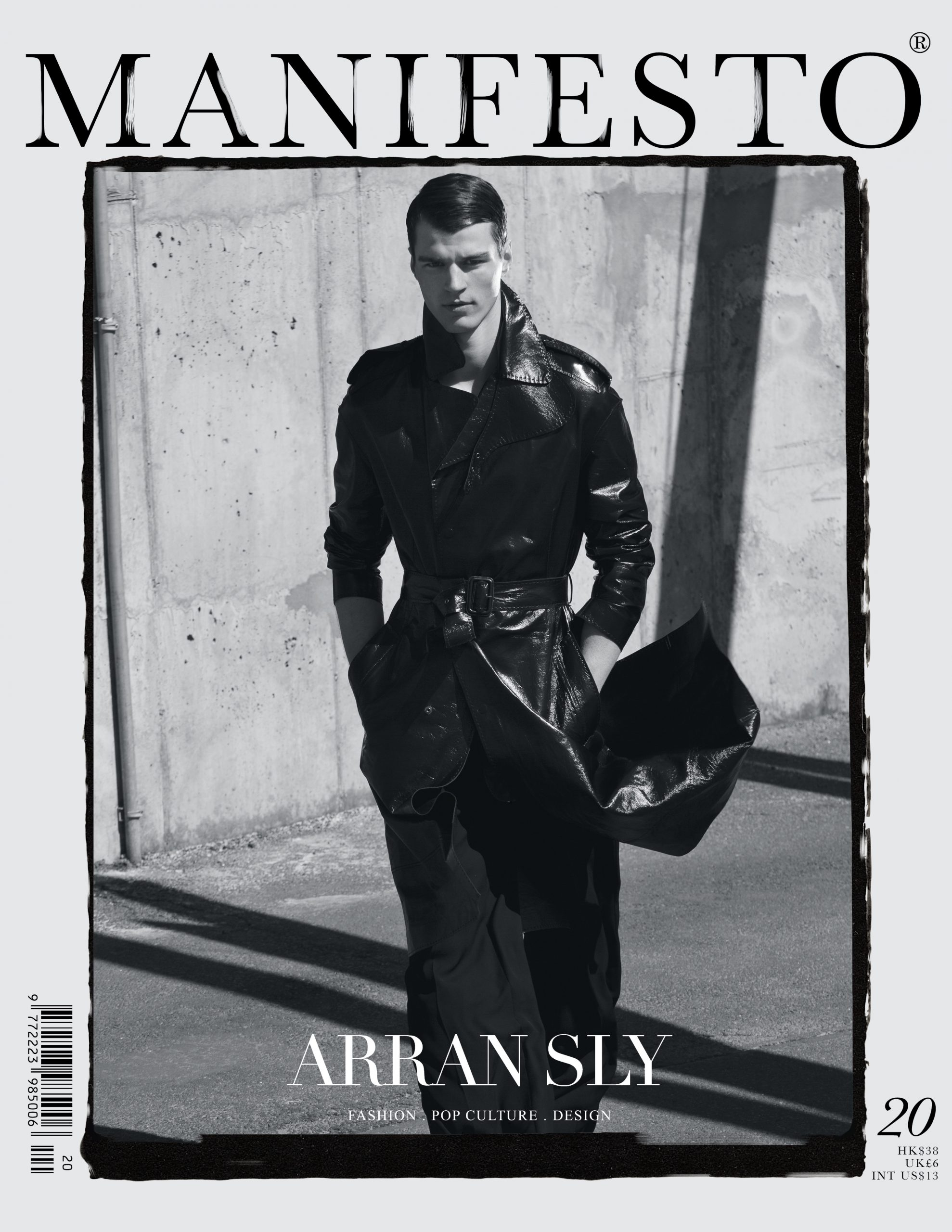 arran sly fashion model manifesto magazine cover fashion menswear