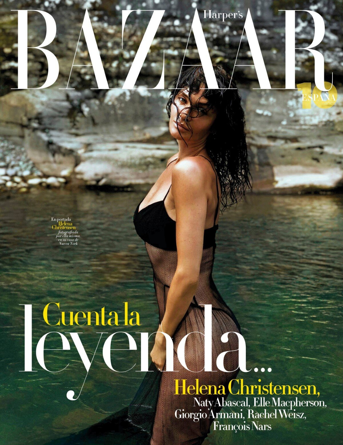Helena Christensen Covers Harpers Bazaar Spain July 2020