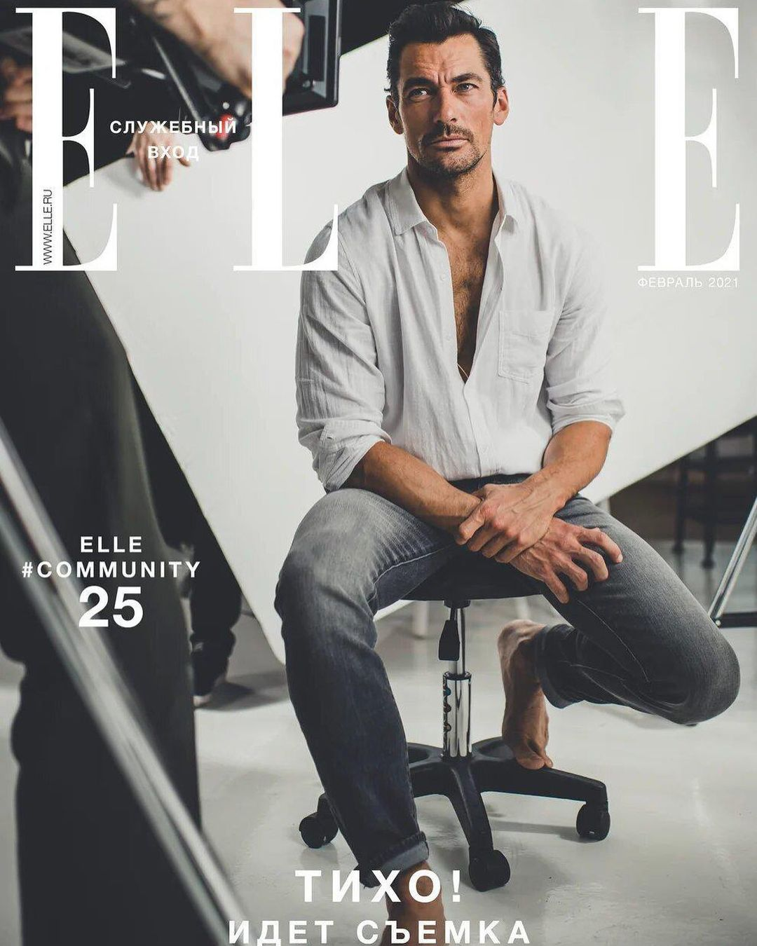elle russia 25 years edition david gandy